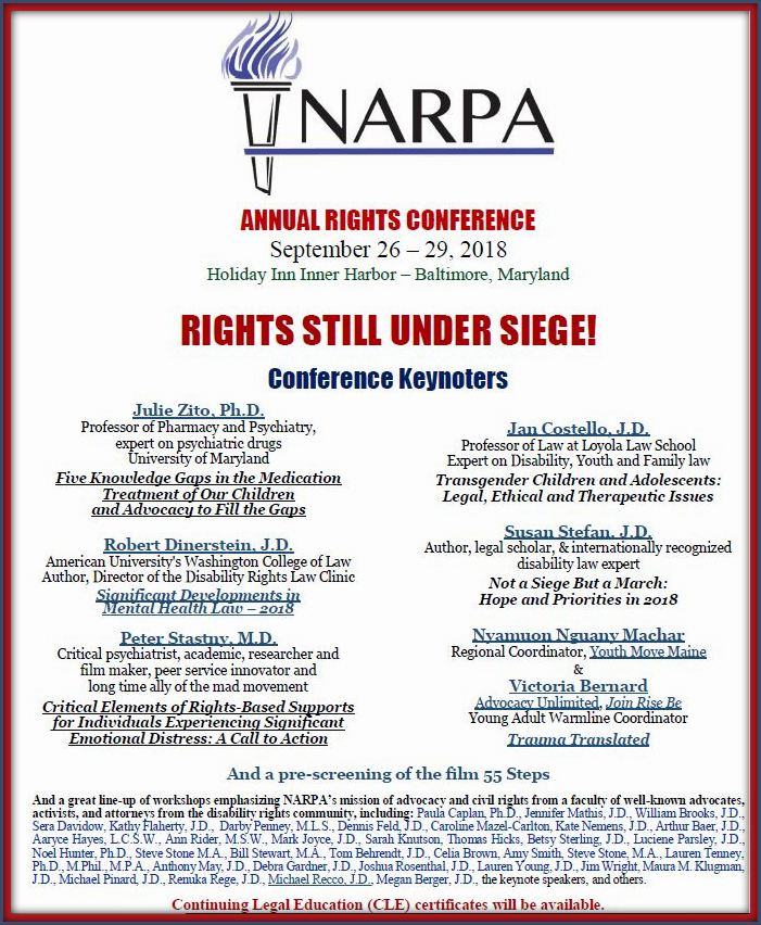 f8238b52cc2 NARPA s 2018 Annual Rights Conference